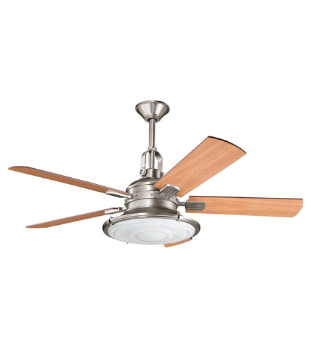 Kichler 300020AP Kittery Point Antique Pewter with Light Cherry Blades Fan photo