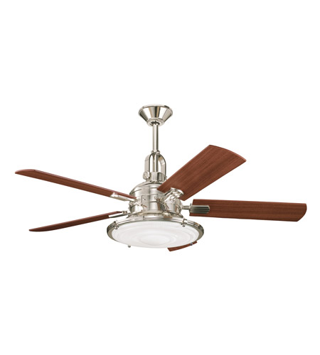 Kittery Point Polished Nickel With Maple Blades Fan
