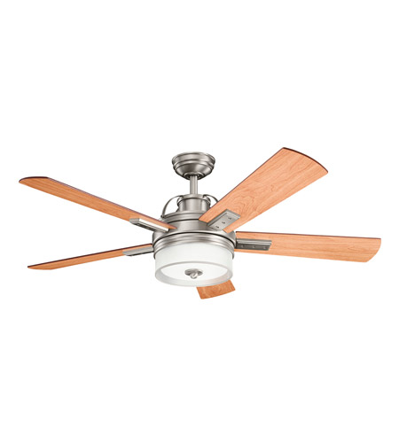 Kichler 300024AP Lacey II 52 inch Antique Pewter with CHERRY/WTHRD WHT WLNT Blades Ceiling Fan photo