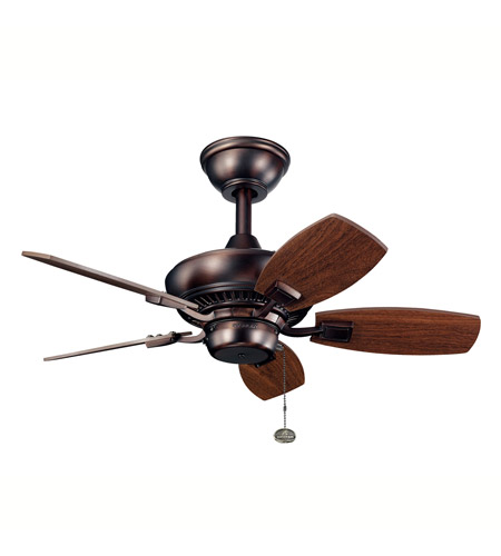 Kichler 300103OBB Canfield 30 inch Oil Brushed Bronze with Walnut Blades Outdoor Fan photo
