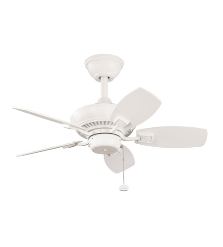 Kichler Lighting Canfield Fan in Satin Natural White 300103SNW