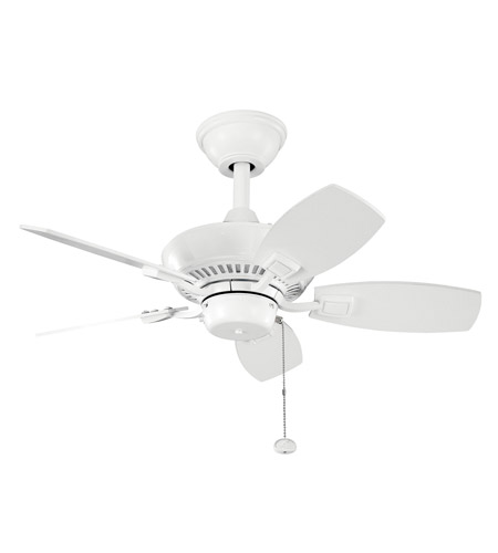 Kichler 300103WH Canfield 30 inch White Outdoor Fan photo