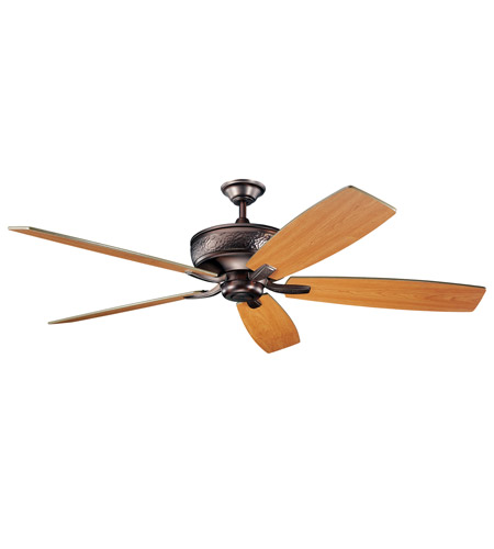 Kichler 300106OBB Monarch 70 inch Oil Brushed Bronze with Walnut Blades Fan photo
