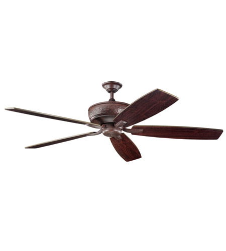 Kichler 300106TZ Monarch 70 inch Tannery Bronze with Teak Blades Fan photo
