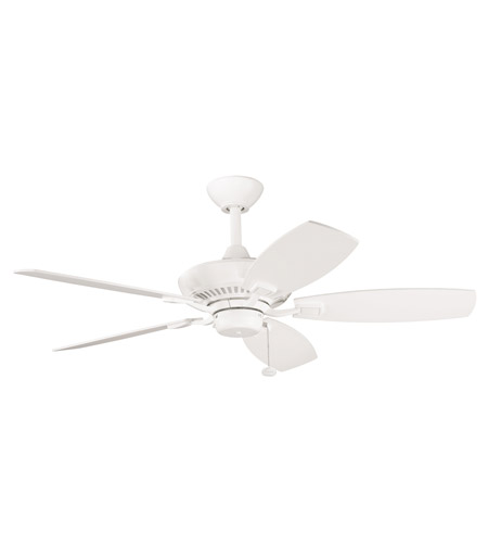 Kichler Lighting Canfield Fan in Satin Natural White 300107SNW