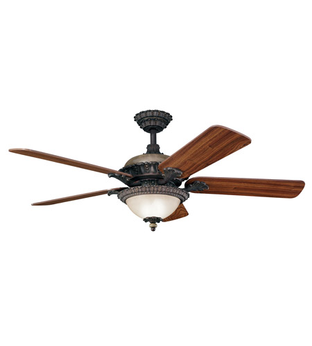 Kichler Lighting Roxton 3 Light Fan in Colton Bronze 300108CTZ photo