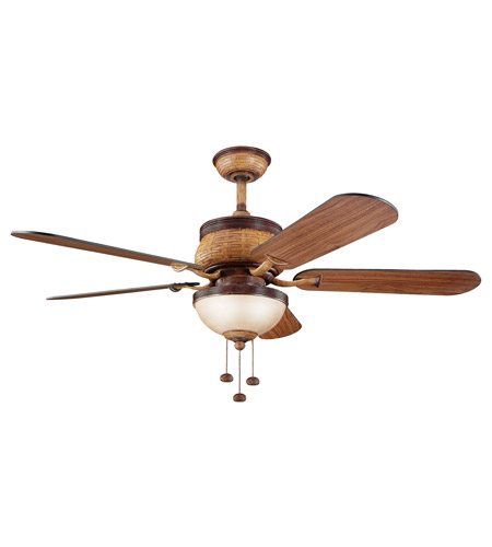 Kichler Lighting Novella Fan in Antique Leather 300110ALR