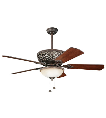 Kichler 300113TZ Cortez 52 inch Tannery Bronze with Walnut Blades Fan photo