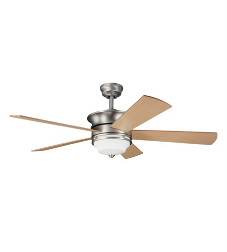 Kichler 300114NI Hendrik Brushed Nickel with Maple Blades Fan photo