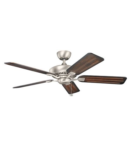 Kichler 300117NI Canfield 52 inch Brushed Nickel with WALNUT/CHERRY Blades Ceiling Fan  photo