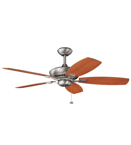 Kichler Lighting Canfield Fan in Brushed Nickel with Reversible Blades (Cherry and Walnut) 300117NI
