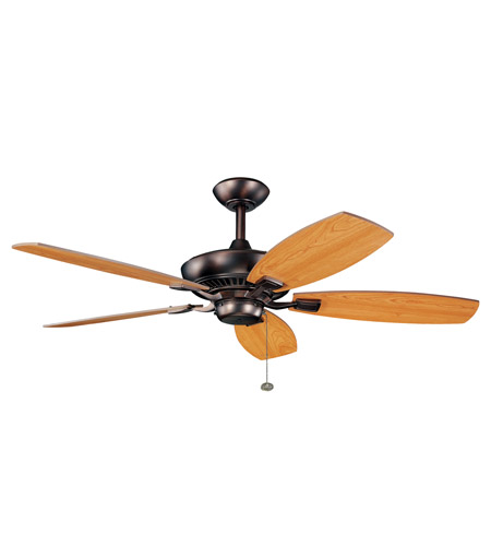 Kichler 300117OBB Canfield 52 inch Oil Brushed Bronze with Walnut Blades Fan in Cherry and Walnut Reversible photo