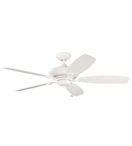 Kichler 300117SNW Canfield Satin Natural White with Satin Nat White Blades Fan photo