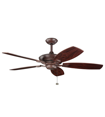 Kichler 300117TZ Canfield 52 inch Tannery Bronze with Teak Blades Fan in Teak / Cherry photo