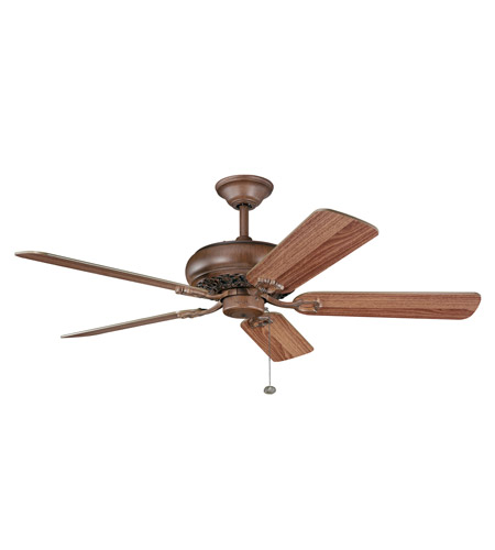 Kichler Lighting Bentzen Fan in Antique Wood 300118AWD photo