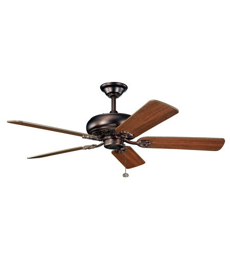 Kichler 300118OBB Bentzen 52 inch Oil Brushed Bronze with Walnut Blades Fan photo