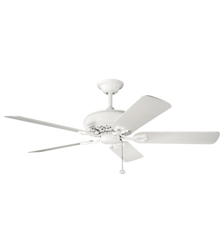 Kichler Lighting Bentzen Fan in Satin Natural White 300118SNW