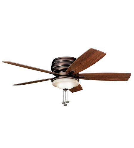 Kichler 300119OBB Windham 52 inch Oil Brushed Bronze with Walnut Blades Outdoor Fan photo