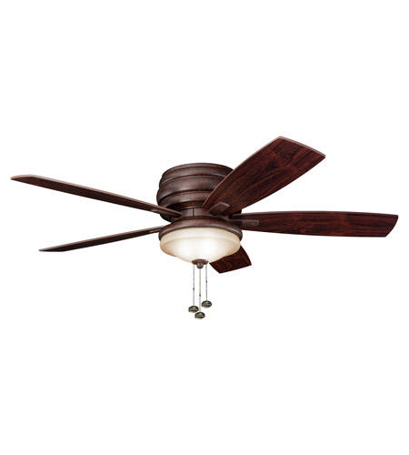 Kichler 300119TZ Windham 52 inch Tannery Bronze with Teak Blades Outdoor Fan photo