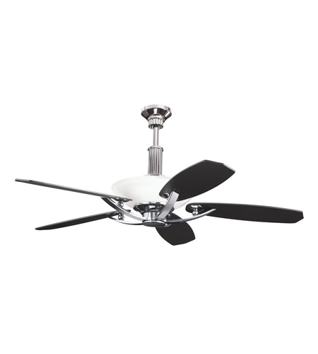 Kichler 300126MCH Palla Midnight Chrome with Satin Black Blades Fan photo