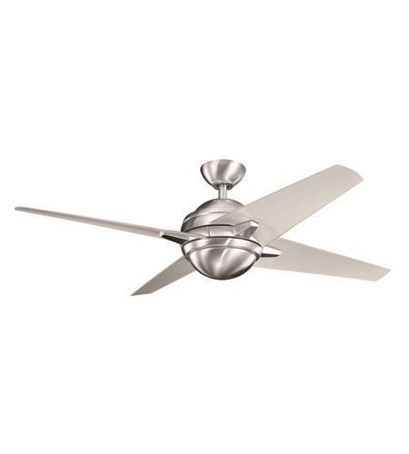 Kichler Lighting Rivetta 1 Light Fan in Brushed Stainless Steel 300133BSS