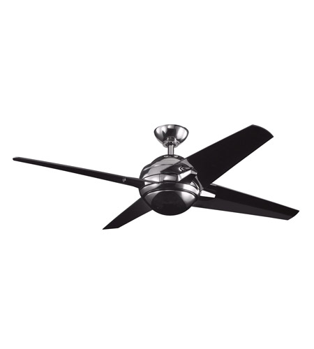 Kichler Lighting Rivetta 1 Light Fan in Midnight Chrome 300133MCH photo
