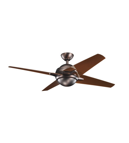 Kichler Lighting Rivetta 1 Light Fan in Oil Brushed Bronze 300133OBB