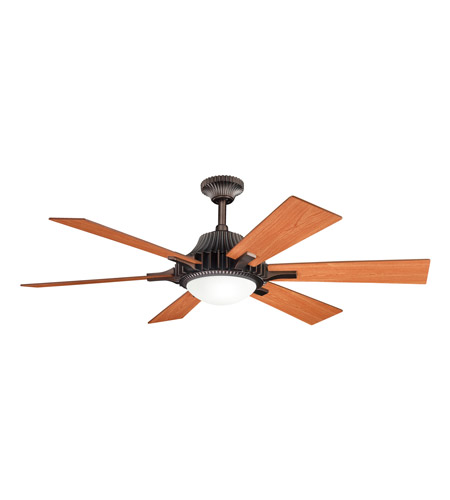 Kichler Lighting Valkyrie 3 Light Fan in Oil Brushed Bronze 300136OBB photo
