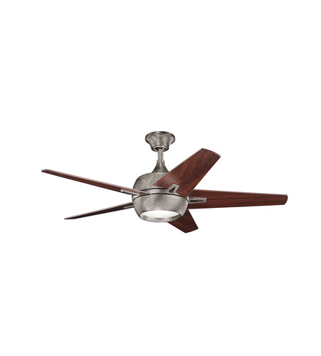 Kichler 300137BAP Makoda 52 inch Burnished Antique Pewter with Walnut MS-97503 Blades Fan photo