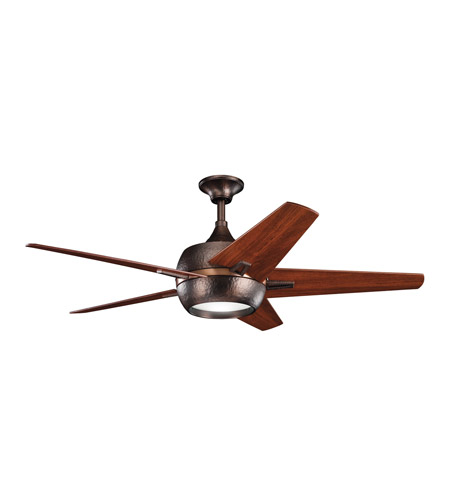 Kichler 300137OBB Makoda Oil Brushed Bronze with Walnut Ms-97503 Blades Fan photo