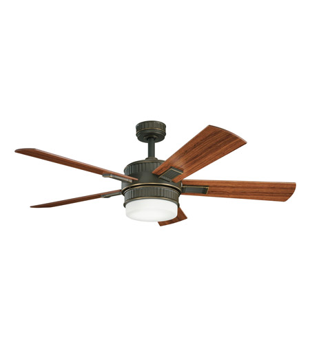 Kichler Lighting Walker 2 Light Fan in Oiled Bronze 300139OLZ photo