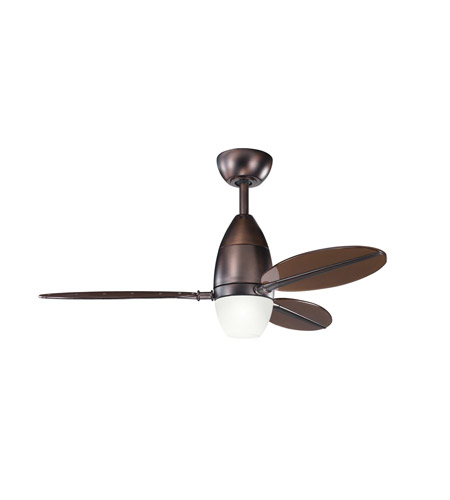 Kichler Lighting Riggs 1 Light Fan in Oil Brushed Bronze 300143OBB