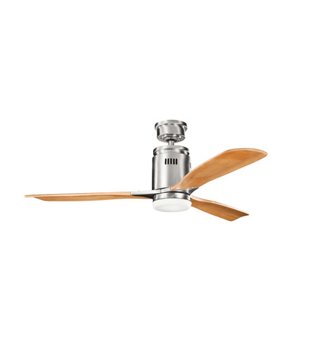 Kichler Lighting Ridley 1 Light Fan in Brushed Stainless Steel 300145BSS