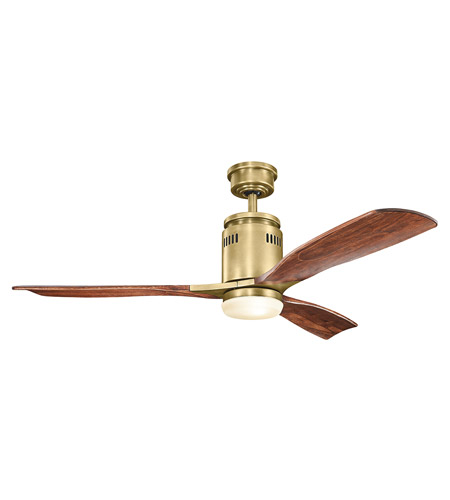 Kichler 300145nbr ridley 52 inch natural brass with cherry stain kichler 300145nbr ridley 52 inch natural brass with cherry stain blades ceiling fan mozeypictures Choice Image