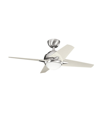 Kichler Lighting Rivetta 1 Light Fan in Brushed Stainless Steel 300147BSS