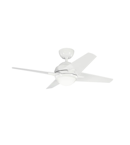 Kichler Lighting Rivetta 1 Light Fan in White 300147WH