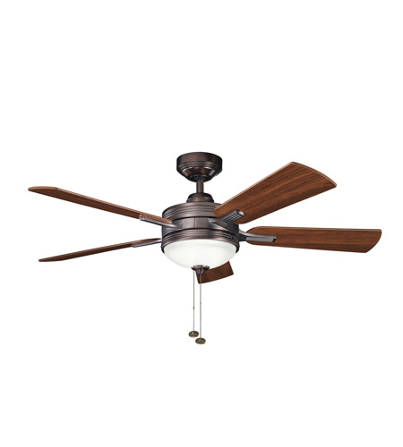 Kichler 300148OBB Logan Oil Brushed Bronze with Walnut Ms-97503 Blades Fan photo