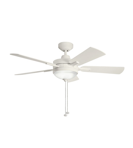 Kichler Lighting Logan 3 Light Fan in Satin Natural White 300148SNW