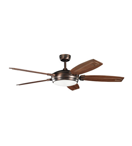 Kichler 300156OBB Trevor Oil Brushed Bronze with Walnut Stain Blades Fan photo