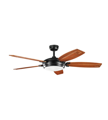 Kichler Lighting Trevor 4 Light 60 inch Fan in Satin Black 300156SBK