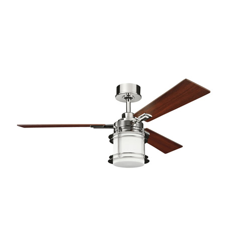 Kichler Lighting Pacific Edge 1 Light 52 inch Fan in Polished Nickel 300157PN