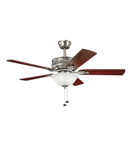 Kichler Lighting Athens 3 Light 52 inch Fan in Antique Pewter 300158AP
