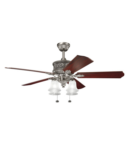 Kichler 300161AP Corinth Antique Pewter with Cherry MS-98514 Blades Fan photo