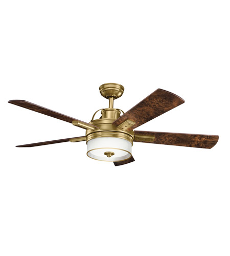 Kichler Lighting Lacey Fan in Burnished Antique Brass 300181BAB