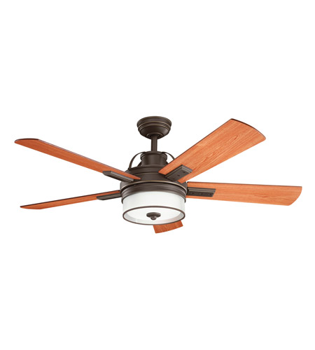 Kichler 300181OZ Lacey Olde Bronze with Walnut Ms-97503 Blades Fan photo