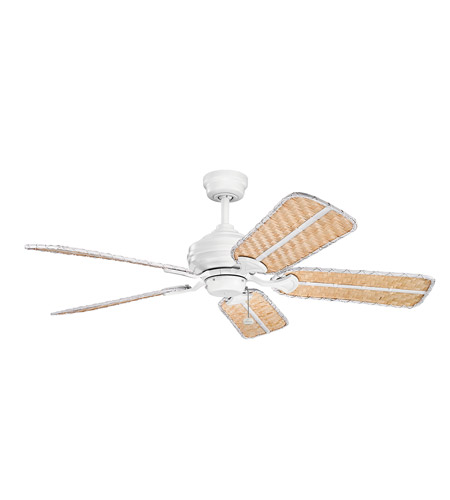 Kichler 370053 Signature Matte White 21 inch each Fan Blade Set, Bamboo photo