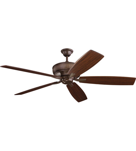 Kichler 300206TZ Monarch 70 inch Tannery Bronze with Teak/Cherry Blades Ceiling Fan photo thumbnail