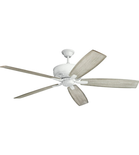 Kichler 300206WH Monarch 70 inch White with WHITE/WTHRD WHT WALN Blades Ceiling Fan photo