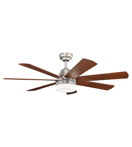 Kichler 300239ni Ellys 56 Inch Brushed Nickel With Silver Blades Ceiling Fan