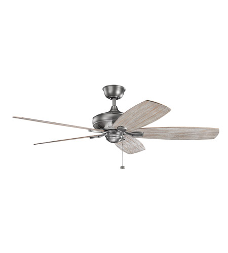 Kichler 300269ap Ashbyrn 60 Inch Antique Pewter With Weathered White Walnut Dark Cherry Blades Ceiling Fan